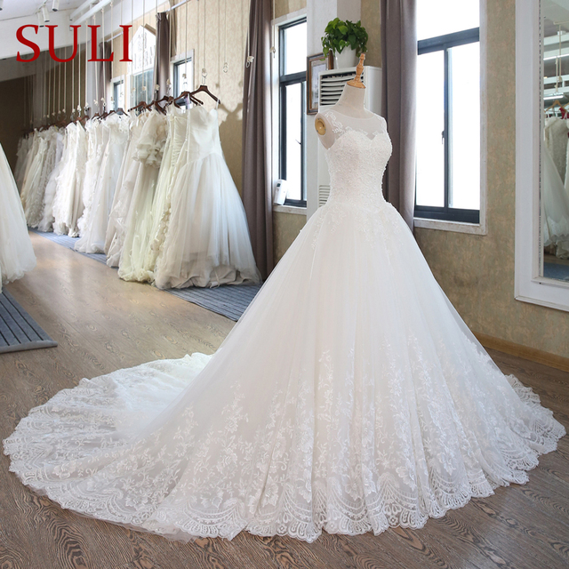 SL 102 Lace Corset Wedding Gowns Plus Size Wedding Dresses Bridal ...