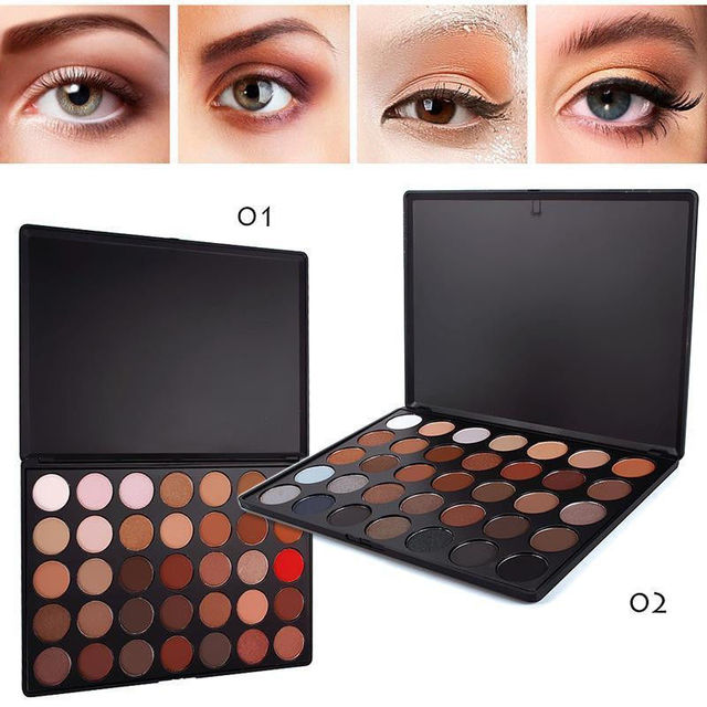 Professional 35 Color Eyeshadow Palette Earth Warm Color Shimmer Matte Eye Shadow Comestic Makeup Set