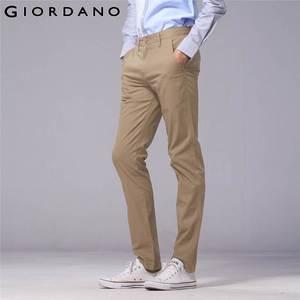 Image 3 - Giordano Men Pants Men Khaki Pantalon Homme Slim Pants Men Quality Trousers Men Cotton Business Casual Modern Pantalones Hombre