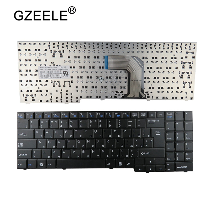 GZEELE new Russian RU Keyboard for Clevo DNS ECS MB50 MB50II MB50IA MB50IA1 Black MP-09R16SU-3603 82B382-FM2028 laptop keyboard new laptop keyboard for dns 0155814 0155827 ru russian black as photo