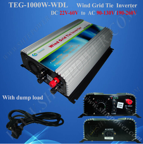 Build In Dump Load Controller 1000w grid tie wind generator 24v 240v wind grid tie inverter 300w dc input 22 60v to ac wind turbine generator dump load controller protection