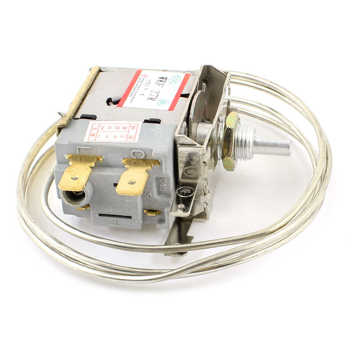AC 250V 6A 2 Pin Terminals Freezer Refrigerator Thermostat wpf22a ac 220 250v refrigerator refrigeration thermostat w 30cm metal cord