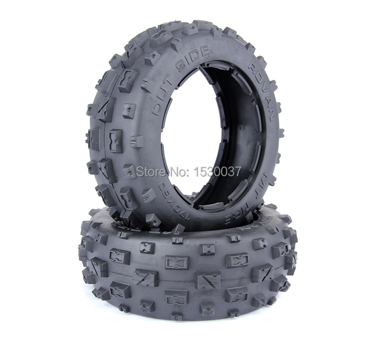 ROVAN BAJA 5B FRONT KNOBBY TIRE SET( RUBBER MATERIAL)FREE SHIPPING front knobby tire x 2pcs set fit hpi rovan mcd baja 5t 5sc free shipping