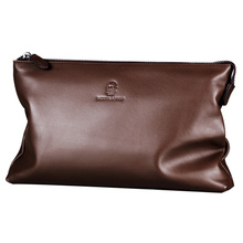Business Big Capacity Clutch Wallets Soft Cowhide Wallet Designer Luxury Men Wallets Men Genuine Leather Wallets Famous Brand Me