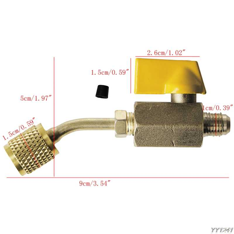 1 шт. инструменты HVAC измерительные приборы латунный затвор резьбы инструмент охладитель клапана R410a R134a HVAC для A/C зарядки Hosescar кондиционер