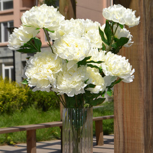 2 Peony Flower Bunches Fake Peony 8 Head/bunch Peony 70cm for Wedding Party Centerpiece Home Party Artificial Decorative Flowers