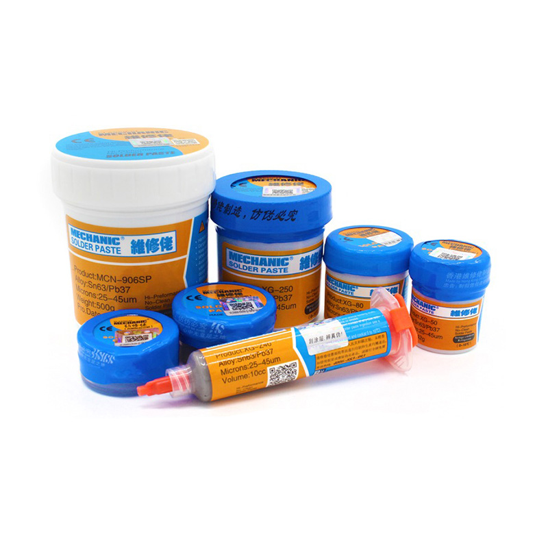 High Quality Solder Paste Flux Original HK MECHANIC Soldering Paste XG-80 XG-50 XG-30 Solder Tin Sn63/Pb67 For Soldering Iron
