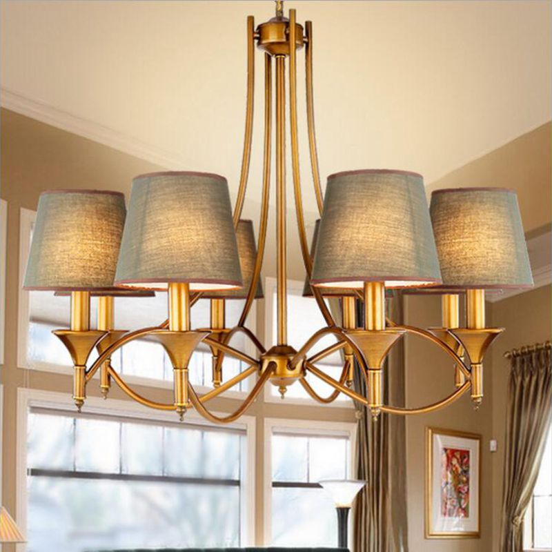 Contemporary Chandelier, Modern American Style Dining Room Lighting Fixture  Pendant Lamp Light For Bedroom Living