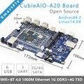 CubieAIO A20 Доска с открытым исходным кодом Все В Одном Мини встраиваемый компьютер Android Linux UART x4 USB x6 Allwinner A20, РУКА ДЕМО-ПЛАТЕ