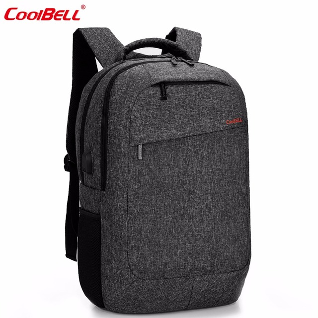 CoolBell Large Capacity Men Laptop Backpack With USB Charging ...