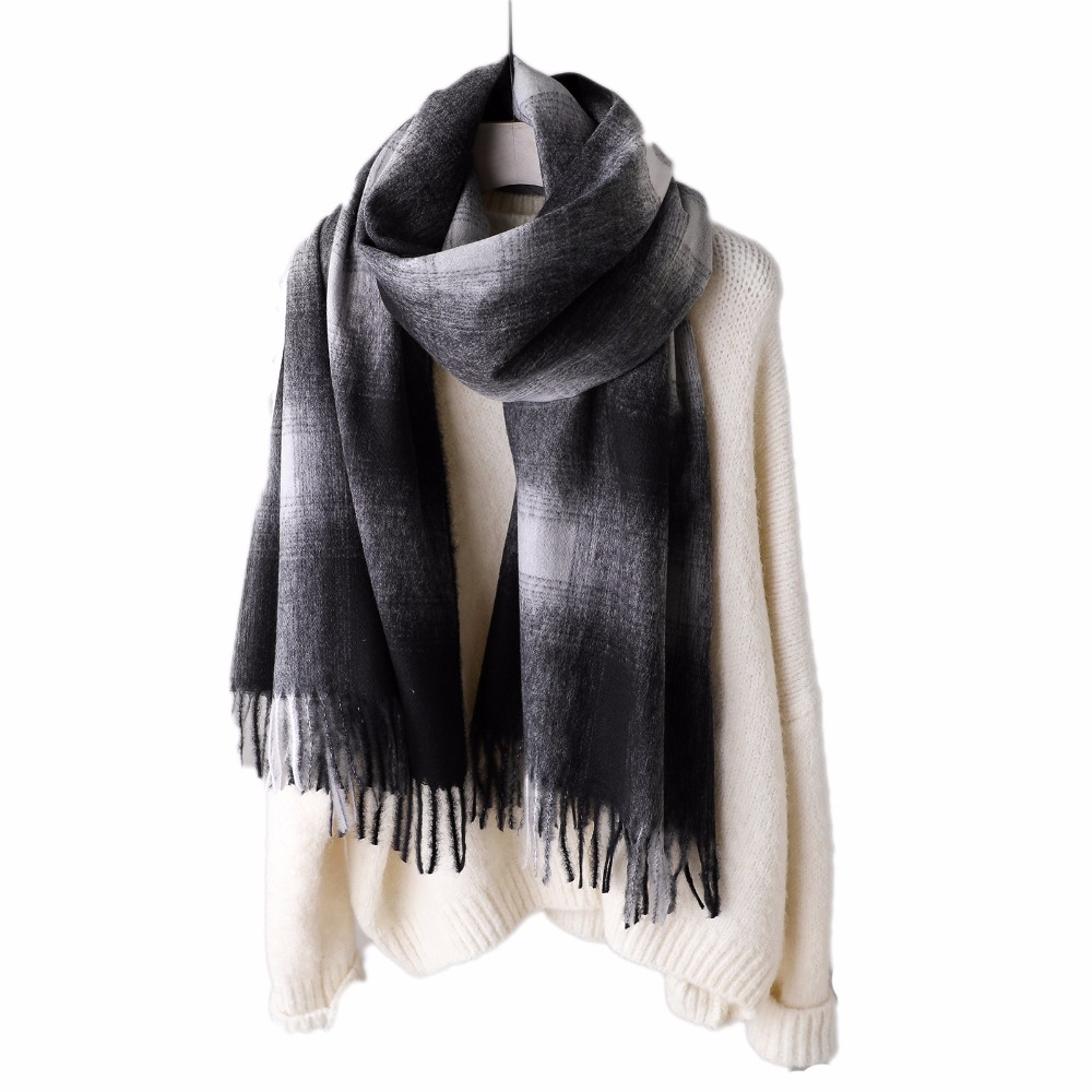Fashion 2019 new Autumn Winter scarves tassel women shawls and wraps lady pashmina pure long cashmere head scarf hijabs stoles
