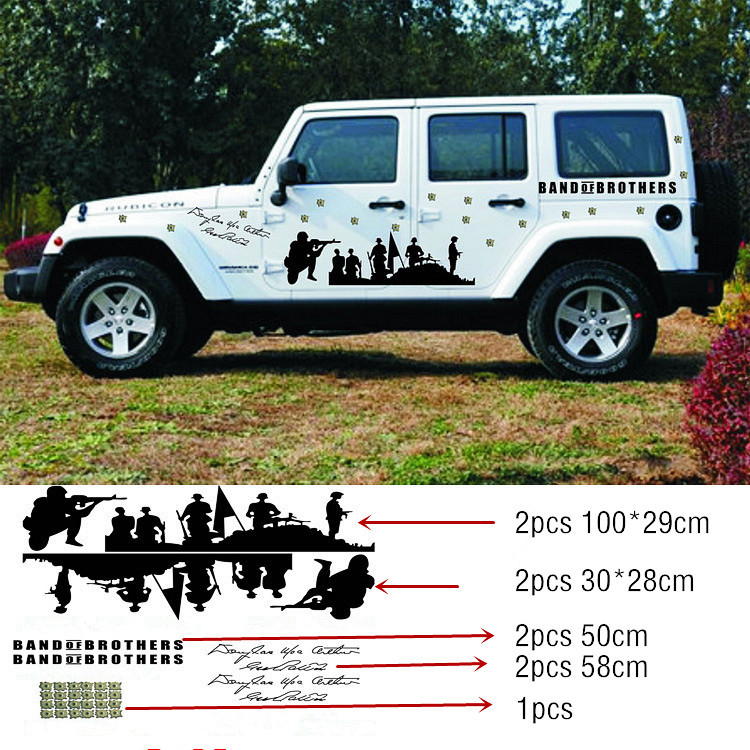 2015 new arrive 1set car whole body car stickers cool bend of brothers car styling car door tail decals for jeep hummer stickers on aliexpress com alibaba