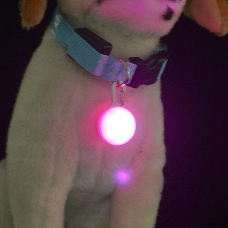 1 Pcs Pet Dog Cat LED Collar Pendant Night Safety Flashing 5 Color Luminous Collar Pendant For Pet Drop Shipping