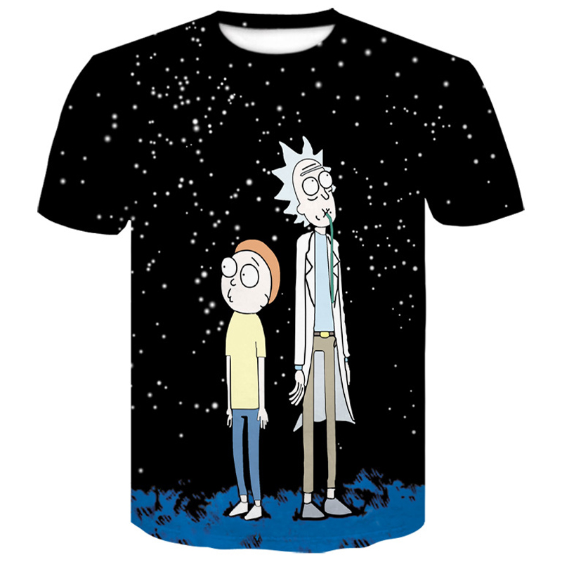 men clothes 2019 Wolf 3D T Shirt Skull Newest Summer Cartoon Rick and Morty men tshirt harajuku Male T shirt funny t shirts Tops in T Shirts from Men 39 s Clothing