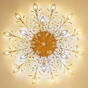 Image 3 - Chandelier Modern Crystal Decoration Chandeliers Ceiling For Living Room Bedroom Dining Room G9 Black/Gold Iron lighting Fixture