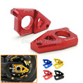 Red Blue Gold Black CA-YA001-GO Motorcycle CNC Rear Axle Spindle Chain Adjuster Blocks for Yamaha TMAX 530 500