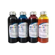 4PCS/Lot 100ML Edible Ink For Canon 4 Color Desktop Inkjet Printer For Cake Food Chocolate BK C M Y