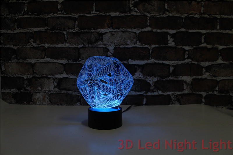 Free Shipping Baby Room Table Lamp 3D Led Indoor Night Light Wholesaler with CE and UL Certificate YJM-2897