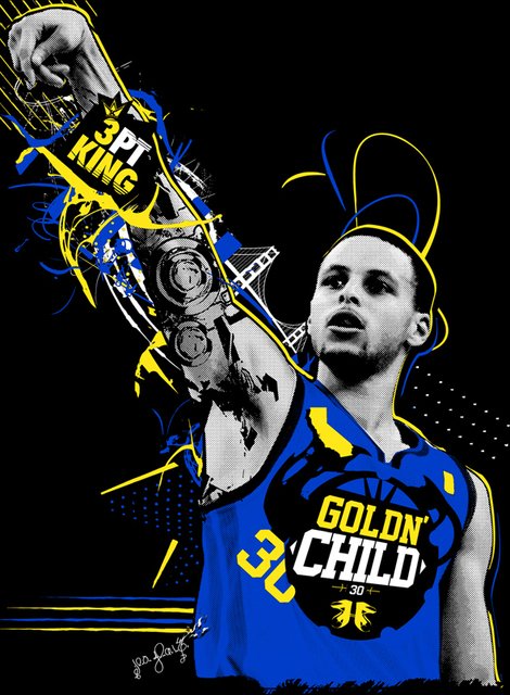 P0724 Stephen Curry WALLPAPER Poster Wall Art For Home Decor Canvas Printings 24x32inch