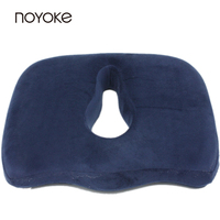 NOYOKE 45*35*8-6 cm Memory Foam Office Seat Back Chair Pads Mats Bottom Seats Memory Foam Cushion for Car Automobile