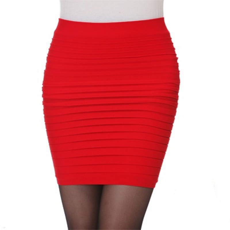 Casual Candy Color Package Hip Wild Fold Skirt Step Skirts Women