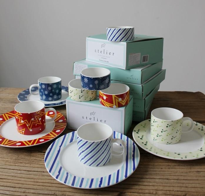 Cadeau en boîte vaisselle exportation coréenne en céramique tasse assiette bol 12 pièces vaisselle ensemble vaisselle et assiettes ensembles vaisselle