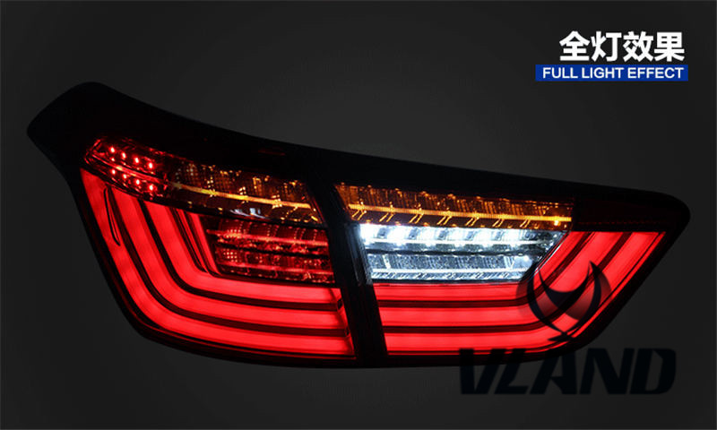VLAND Car led Taillight For Ix25 Taillight 2015-2017 Creta Tail lamp With Led Moving Signal Light DRL car styling tail lights for toyota highlander 2015 led tail lamp rear trunk lamp cover drl signal brake reverse