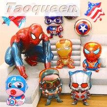 Воздушные шары из фольги «мстители», «супергерой», «гелий», «Капитан Америка», «Супермен», для мальчиков, товары для дня рождения, мультяшная шляпа