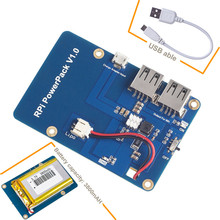 3800mAh 5V / 1.8A Батарея лития Power Pack плата расширения для Raspberry Pi 3 модели B, 2 модели B и 1 Модель B +