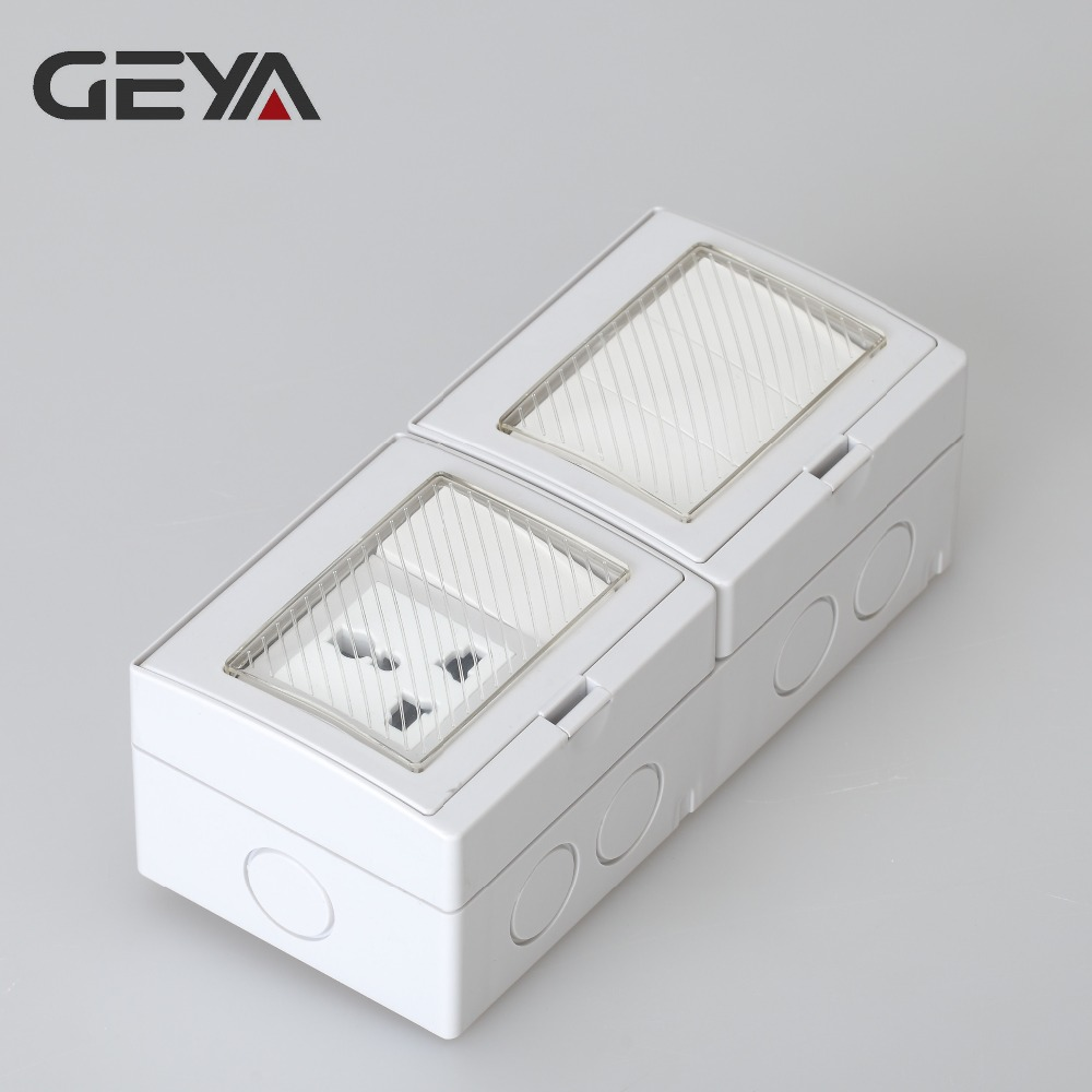 GEYA Multifunction Type Waterproof 4 Gang Switch 1 Gang Socket or 4 Gang 2 Way Switch 1 Gang Socket