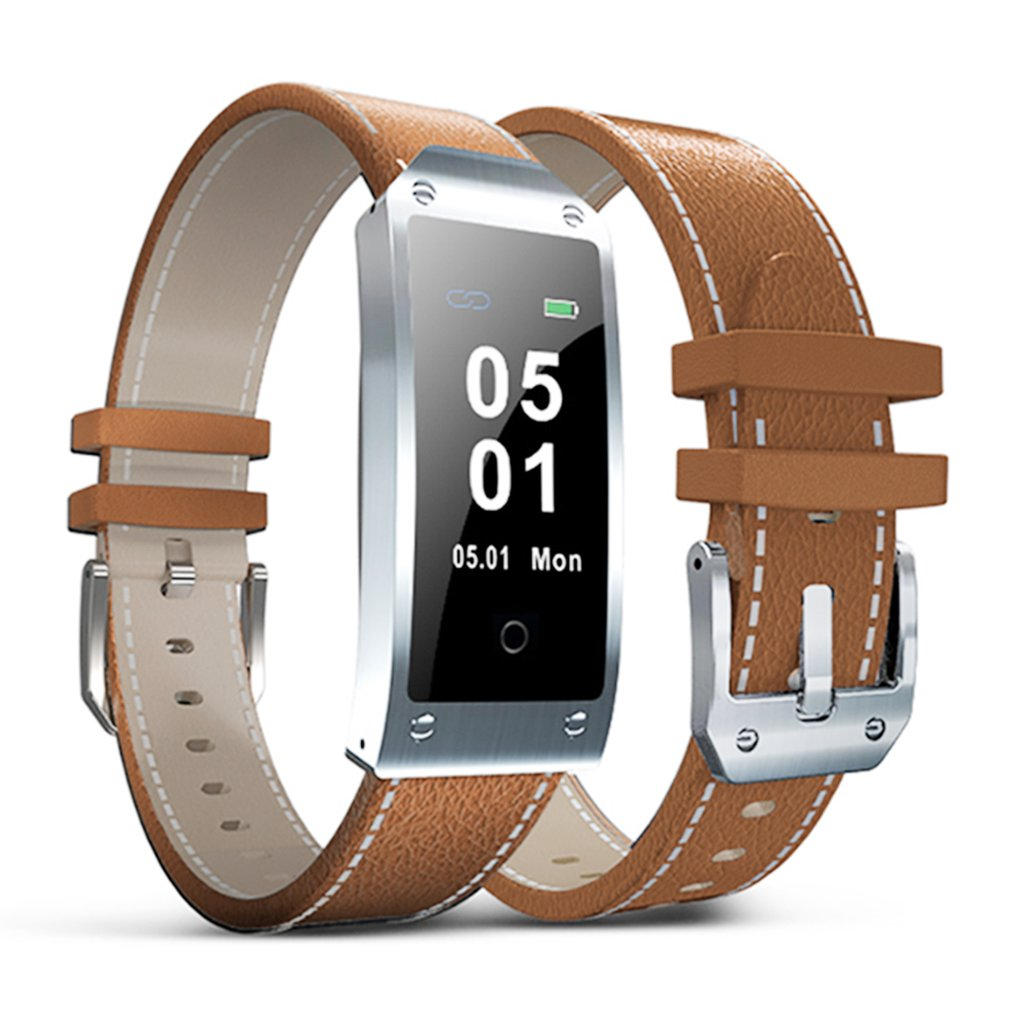 0.96 Inch Color LCD Y2 Smart Watch Leather Strap Bracelet Waterproof Bluetooth Heart Rate Blood Pressure Monitor все цены