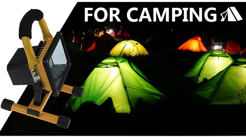 Solar LED Spotlight Outdoor Floodlights 10W IP65 Waterproof Portable Solar Powered Refletor Led Rechargeable Camping Flood light (19)