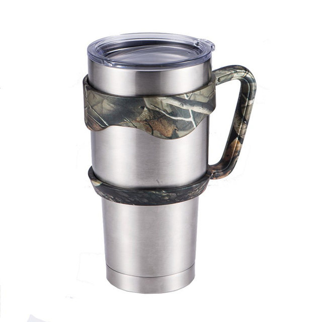 5d61cdb6d7a Camouflage None-Slip Soft Grip Handle for Yeti Rambler 30 Ounce Tumbler Rtic,  Sic