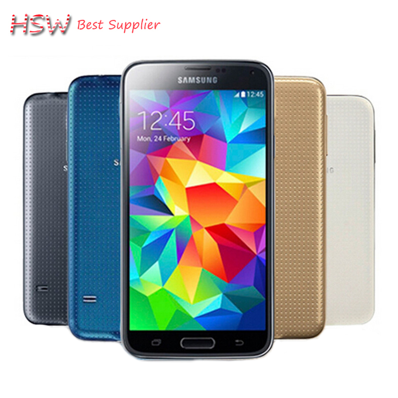 original Hot Sale S5 I9600 Original Unlocked Galaxy S5 I9600 G900A G900F G900H 16MP Quad-core GPS WIFI Refurbished Mobile Phone