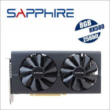 サファイア Radeon RX 580 8 グラム 8 ギガバイト RX580 256bit GDDR5 PCI デスクトップ · ゲーム用グラフィックスカードビデオカードは鉱業 RX570 570 560