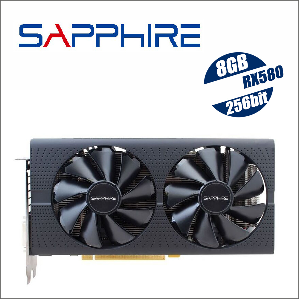 SAPPHIRE Radeon RX 580 8G 8GB RX580 256bit GDDR5 PCI desktop gaming graphics cards video card not mining RX570 570 560Graphics Cards   -
