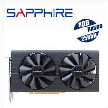 Видеокарта SAPPHIRE Radeon для настольных ПК, игровая графическая карта RX570, 560, RX 580, 8 ГБ, 256 бит, GDDR5, PCI, не использовалась для майнинга