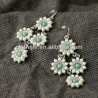 New Designer 2013 Fashion Jewelry Wholesale Imation Pearl Flowers Earrings