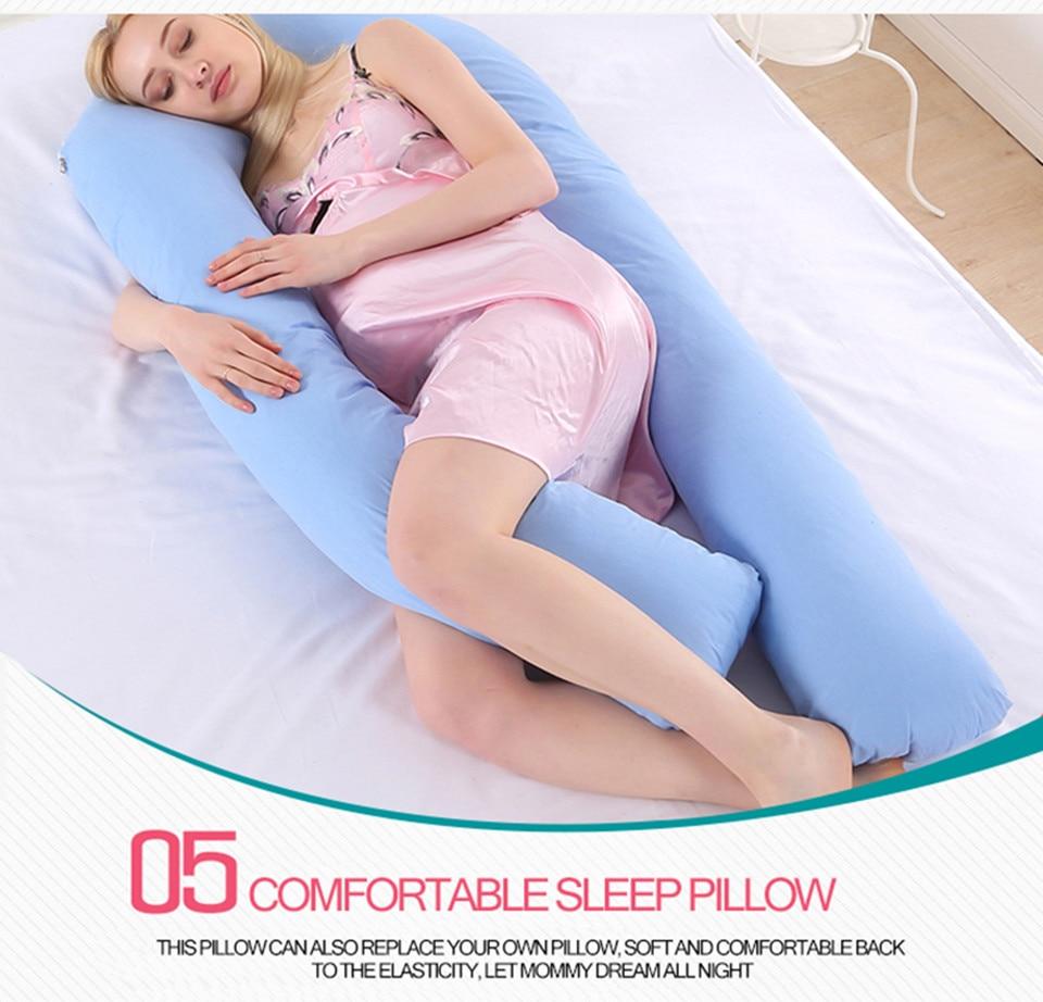 Bedding Pillows U Shape Pregnancy Pillow Full Body Maternity Pillow Comfort Sleeping Support Pillow For Pregnant Women Body _13_
