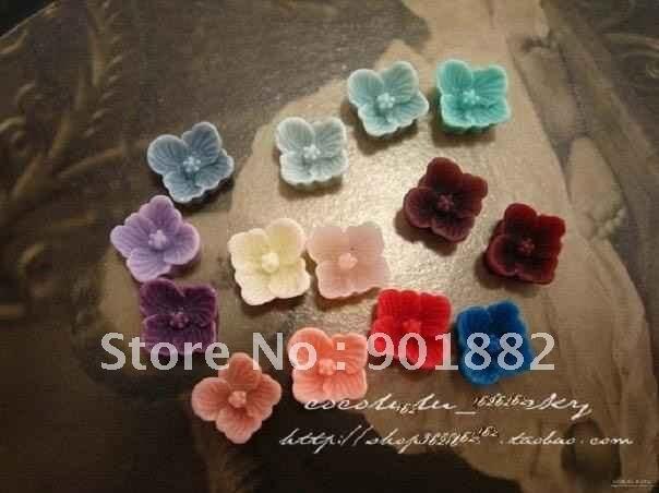 AAA 10 мм Разноцветные смолы цветок Бусины для DIY ювелирные украшения! 100 шт./лот