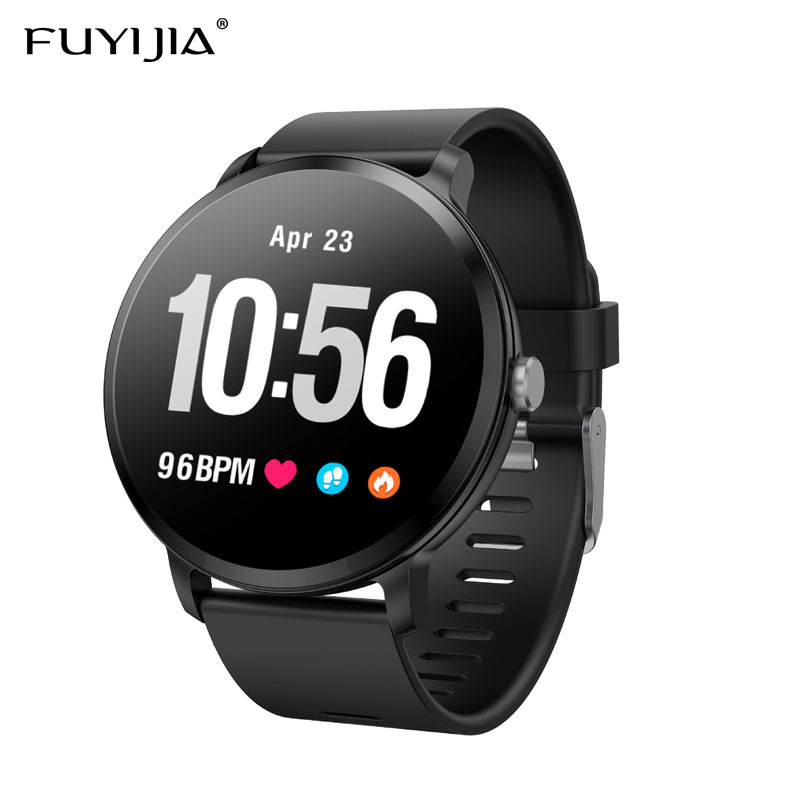 FUYIJIA 2019 New Color Screen Couple Watch Men Multifunction Sports Watch Couple Waterproof Watches Woman Heart Rate Clock MaleFUYIJIA 2019 New Color Screen Couple Watch Men Multifunction Sports Watch Couple Waterproof Watches Woman Heart Rate Clock Male
