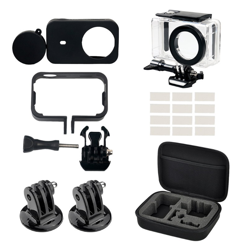 New 7-In-1 Waterproof Case Frame Storage Bag Kit For Xiaomi for Mijia Mini 4K Action Camera hot