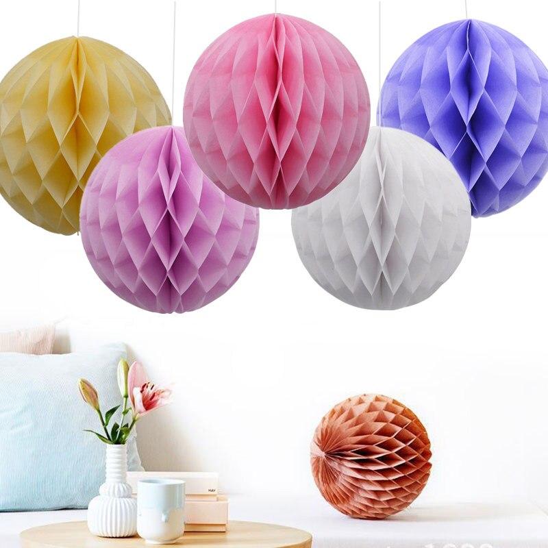 5Pcs 5-20cm Round Tissue Paper Honeycomb Balls Lantern Baby Shower Kid Birthday Party Decorations Christmas Home Decor