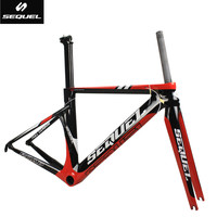 SEQUEL DCRF05 carbon frames clearance sale cheap carbon frame road bike BSA factory price customizable 2 years warranty