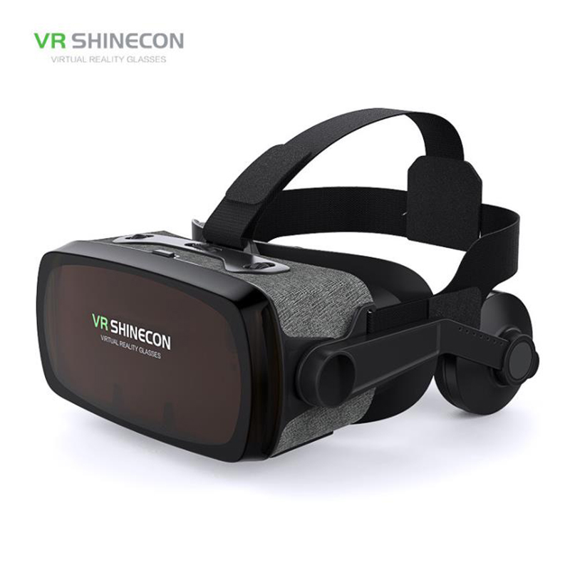 Stereo Shinecon 9.0 headset version VR Box Virtual Reality Glasses 3D Goggles Headset Helmet For Smartphone original vr virtual reality 3d glasses box stereo vr google cardboard headset helmet for ios android smartphone bluetooth rocker