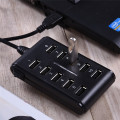 1pcs Newest Fashion Design Double 2 row interface usb 2.0 high Speed 10 ports HUB multi-function usb hub for pendrive fan webcam