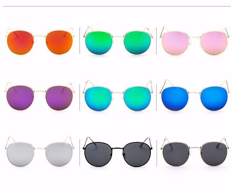 Luxury Brand Design Round Sunglasses Women Men Brand Designer Vintage Retro Mirror Sun Glasses For Women Female Ladies Sunglass (4)