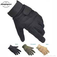 Army Special Forces Tactical Volledige Vinger Handschoenen Jacht Wandelen Outdoor Gym Militaire Combat Handschoenen(China)