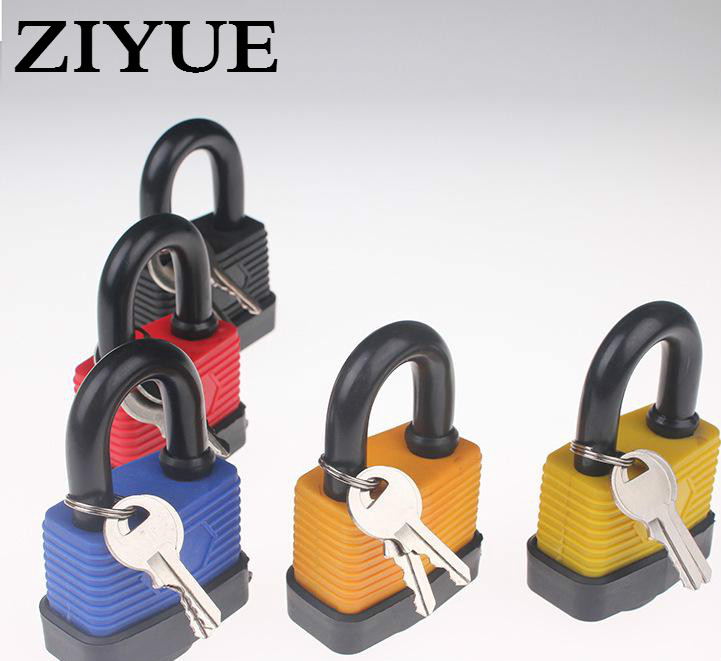 Free Shipping 50mm Outdoor Waterproof Padlock Tooth Rubber Heavy Security Shackle Lock with 2 Keys for warehouse gate warehouse door gate 60mm metal security lock padlock lengthening lock w 4 pcs keys