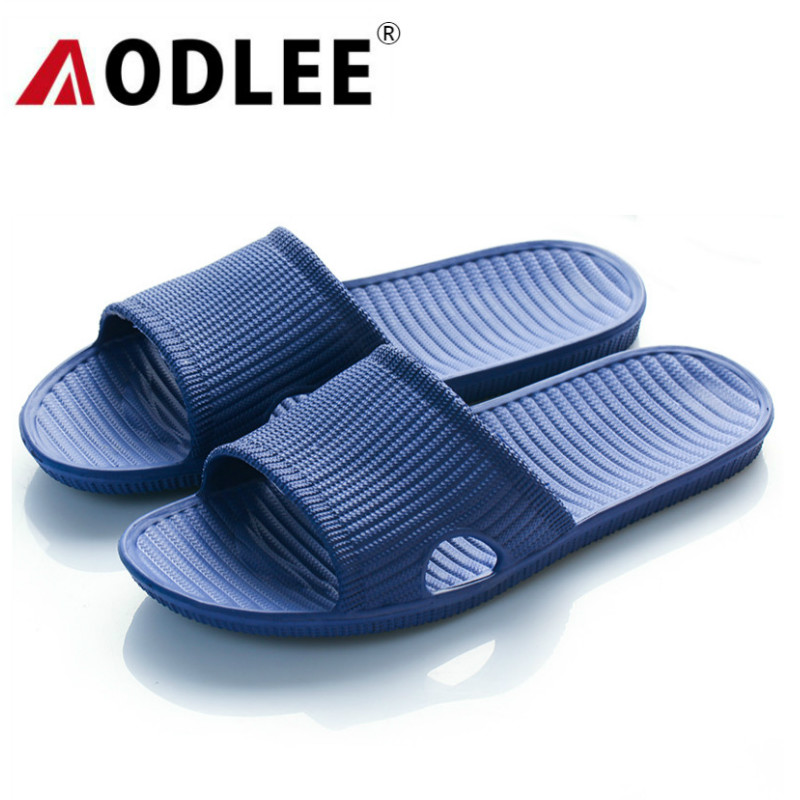 AODLEE Plus Size 45 Men Shoes Solid Bath Slippers Spring Men Beach Sandals Indoor Outdoor Slippers Casual Shoes Men Non-Slip